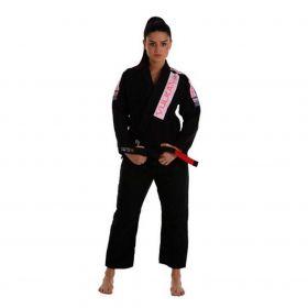 Kimono Jiu Jitsu Vulkan Pro Light Preto Feminino