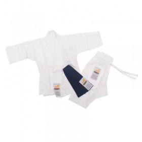 Kimono Jiu Jitsu Krav Recém Nascido Branco Faixa Preta