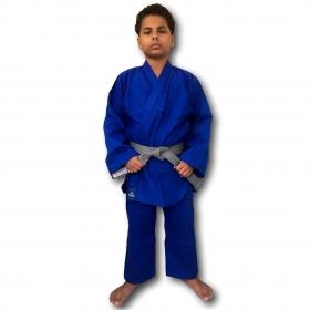 Kimono Jiu Jitsu Torah Reforçado Flex Azul Infantil