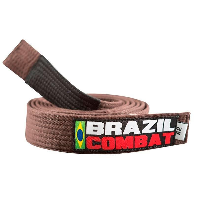 Faixa Jiu Jitsu Brazil Combat Tradicional Marrom Ponta Preta