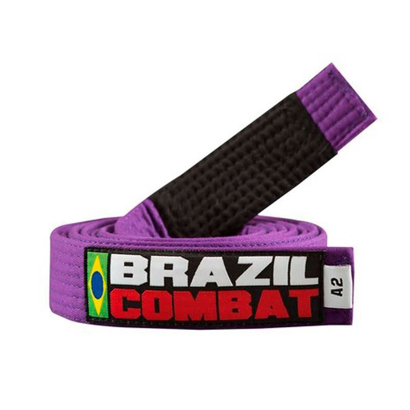 Faixa Jiu Jitsu Brazil Combat Tradicional Roxa Ponta Preta