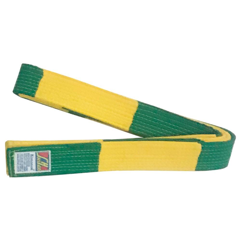 Faixa Jiu Jitsu Shihan Arbitragem Verde Amarela