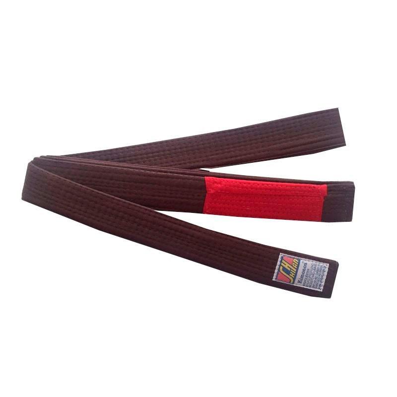 Faixa Jiu Jitsu Shihan Marrom Ponta Vermelha Extra