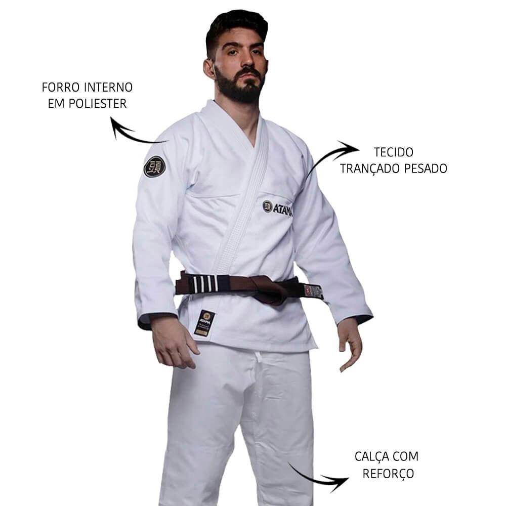Kimono Jiu Jitsu Atama Classic Branco Adulto Unissex