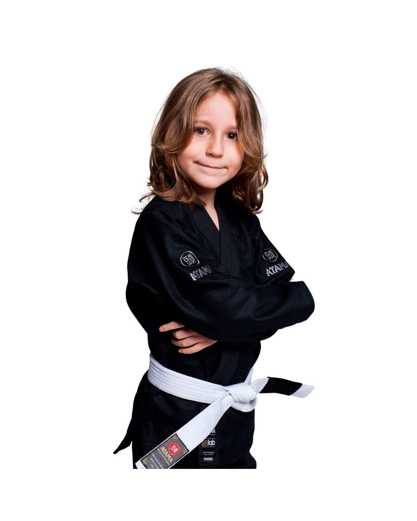 Kimono Jiu Jitsu Atama Infinity Collab Infantil Preto- Unissex