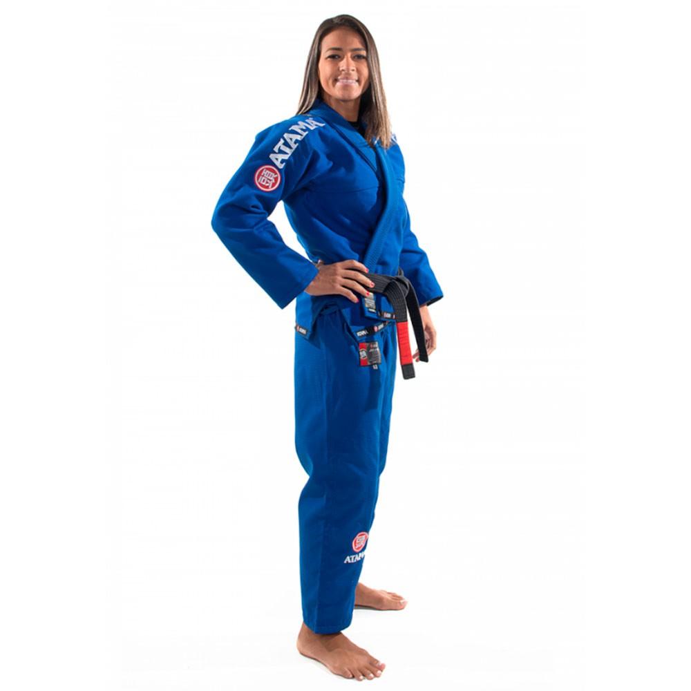 Kimono Jiu Jitsu Atama Mundial Azul Feminino