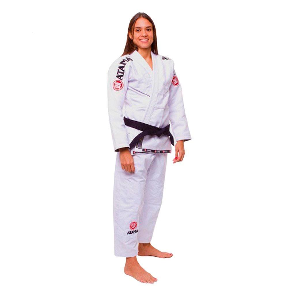 Kimono Jiu Jitsu Atama Mundial Branco Feminino
