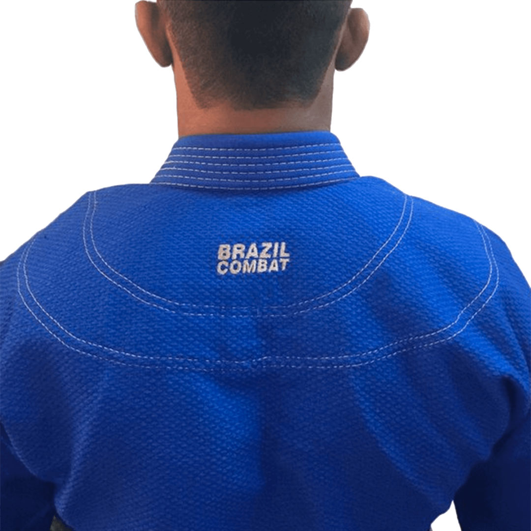 Kimono Jiu Jitsu Brazil Combat BJJ Roots Azul Unissex