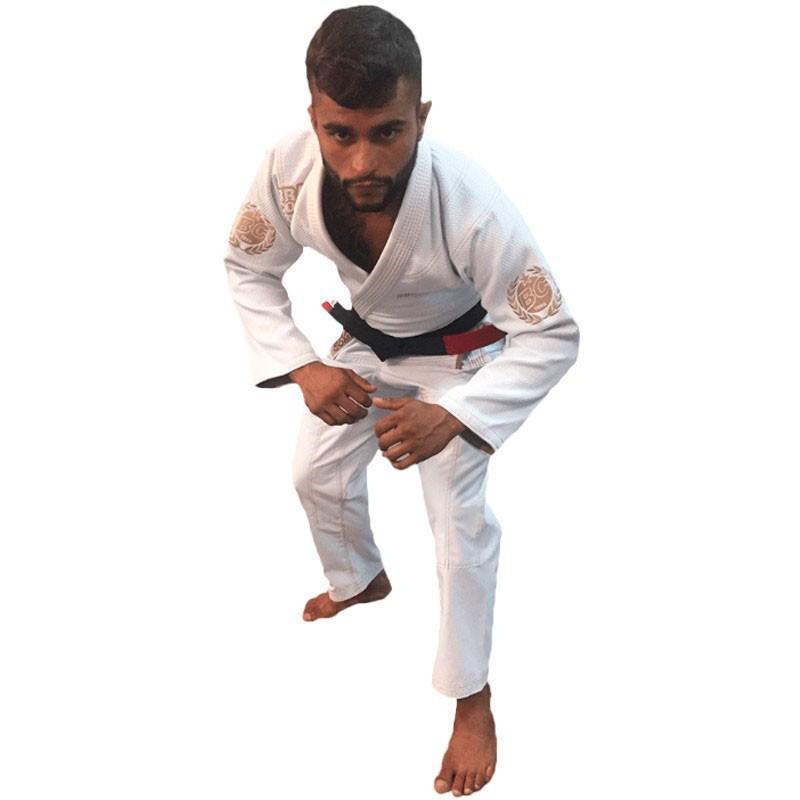 Kimono Jiu Jitsu Brazil Combat BJJ Roots Branco Unissex