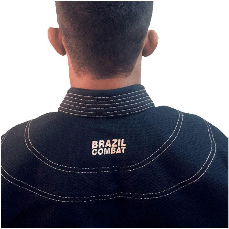 Kimono Jiu Jitsu Brazil Combat BJJ Roots Preto Unissex