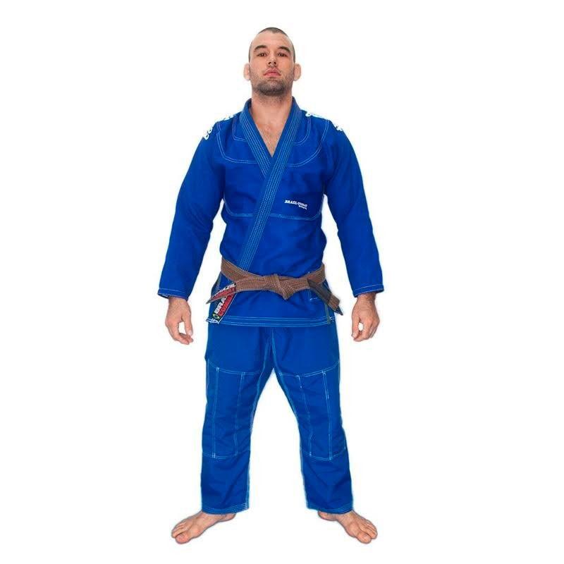 Kimono Jiu Jitsu Brazil Combat Elite V4 Azul Unissex