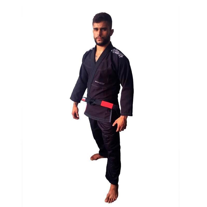 Kimono Jiu Jitsu Brazil Combat Elite V4 Preto Unissex
