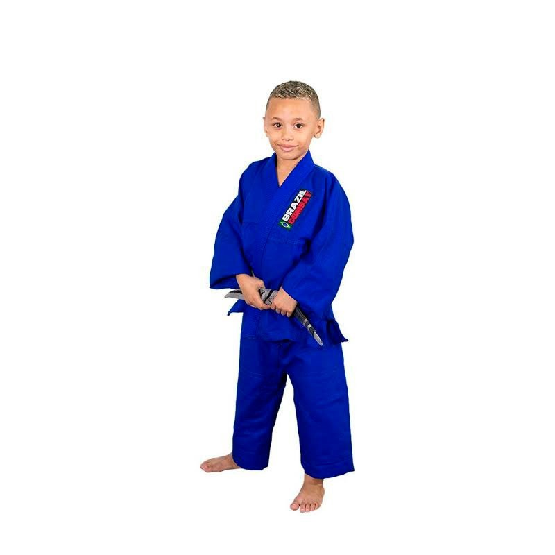 Kimono Jiu Jitsu Brazil Combat Kids Azul Infantil