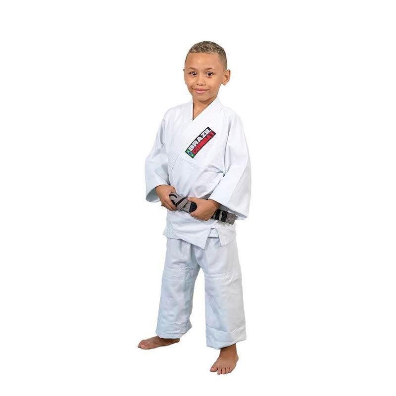 Kimono Jiu Jitsu Brazil Combat Kids Branco Infantil