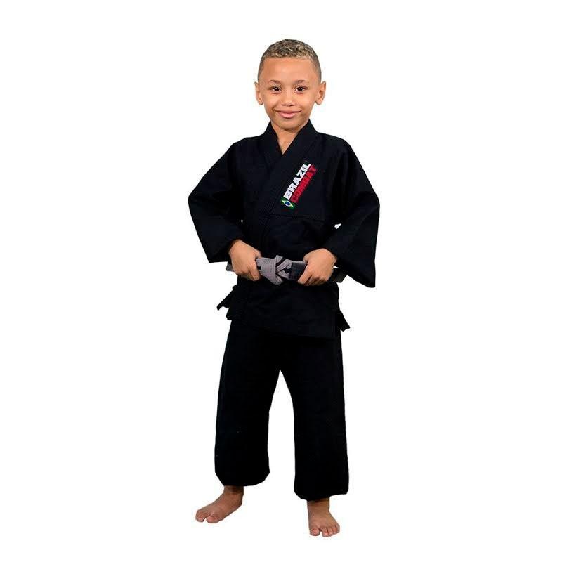 Kimono Jiu Jitsu Brazil Combat Kids Preto Infantil