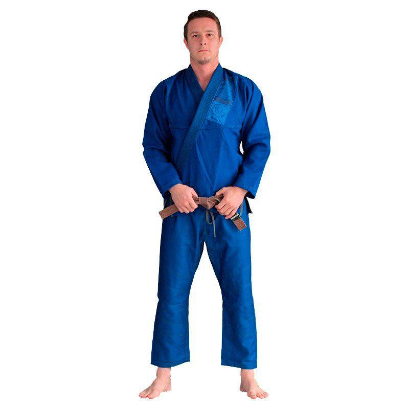Kimono Jiu Jitsu Bulldog Azul Adulto Unissex
