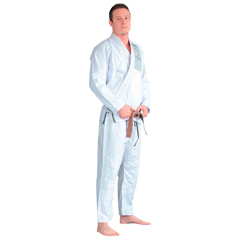 Kimono Jiu Jitsu Bulldog Branco Adulto Unissex