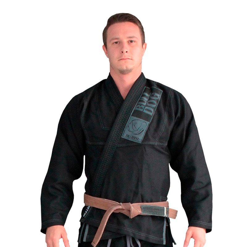 Kimono Jiu Jitsu Bulldog Preto Adulto Unissex
