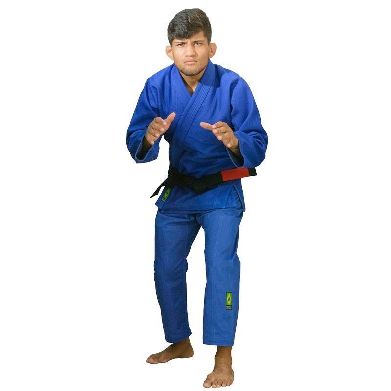 Kimono Jiu Jitsu Cascagrossa Basic Style Azul Adulto Unissex