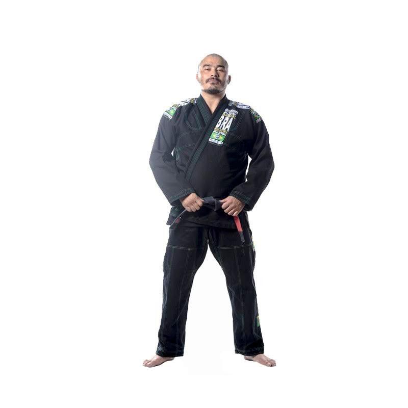 Kimono Jiu Jitsu Cascagrossa Seleção Preto Adulto Unissex