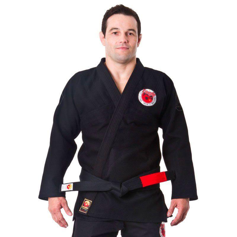 kimono Jiu Jitsu Dragão Arm Lock Preto Adulto Unissex