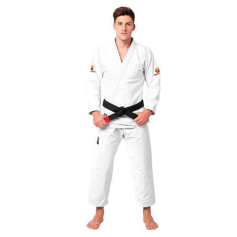 Kimono Jiu Jitsu Dragão Classic Branco Adulto Unissex