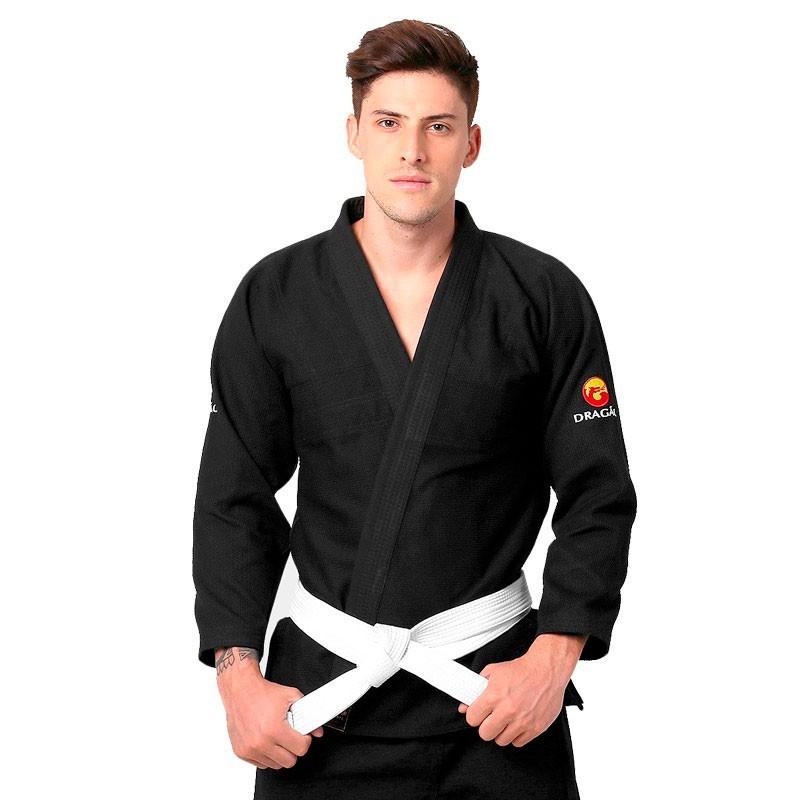 Kimono Jiu Jitsu Dragão Classic Preto Adulto Unissex