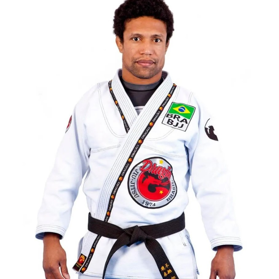 Kimono Jiu Jitsu Dragão Combat Branco Adulto Unissex