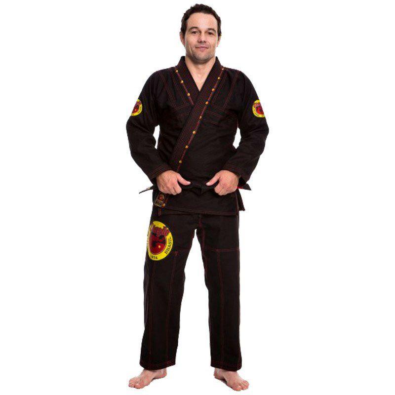 Kimono Jiu Jitsu Dragão Elite Preto Adulto Unissex