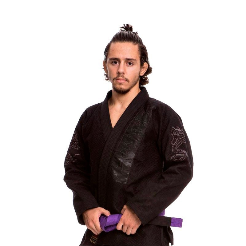 Kimono Jiu Jitsu Dragão Iron Preto Adulto Unissex