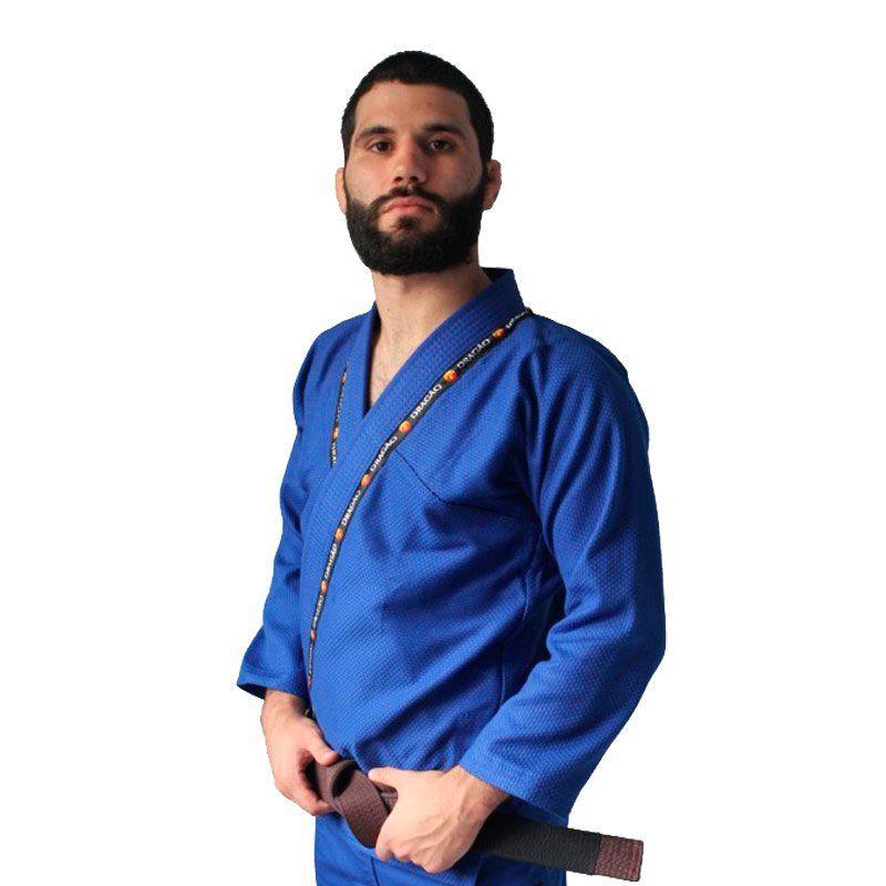Kimono  Jiu Jitsu Dragão King Azul Adulto