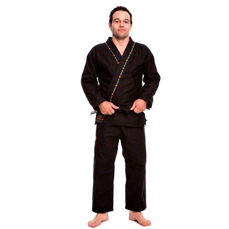 Kimono Jiu Jitsu Dragão King Preto Adulto Unissex
