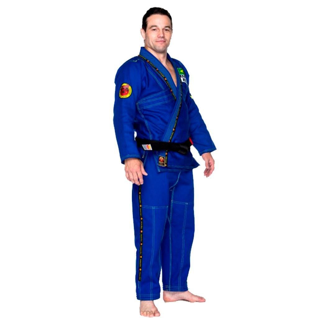Kimono Jiu Jitsu Dragão Novo Combat Azul Adulto Unissex