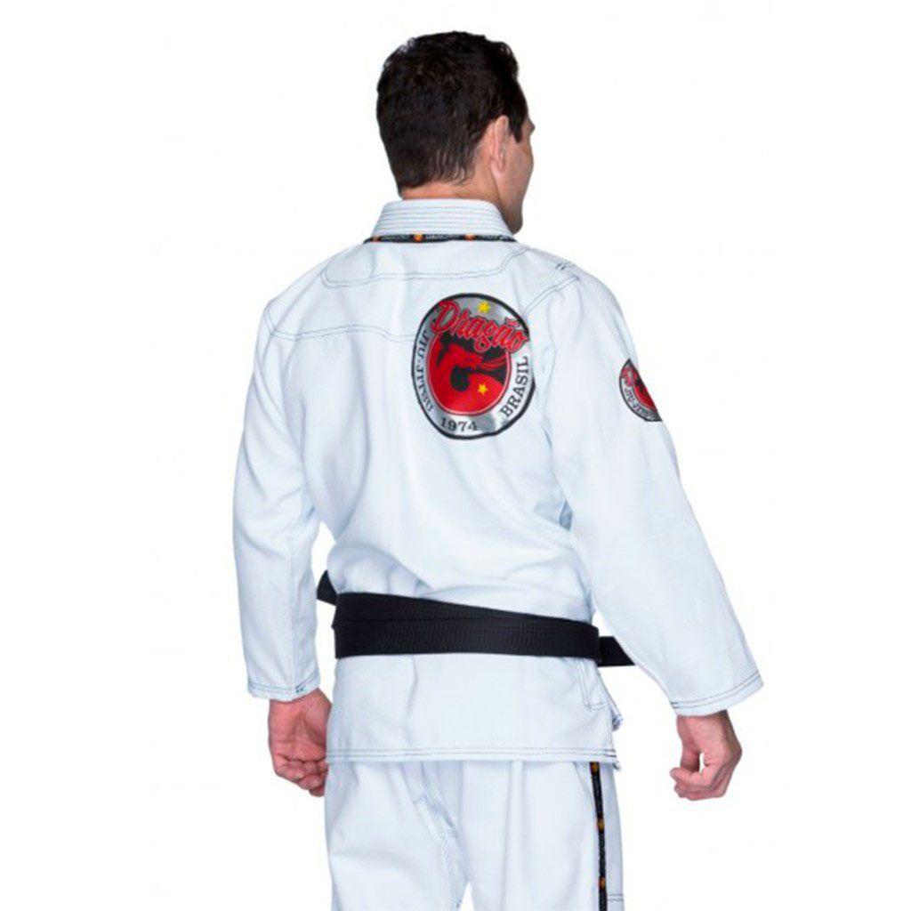 Kimono Jiu Jitsu Dragão Novo Combat Branco Adulto Unissex