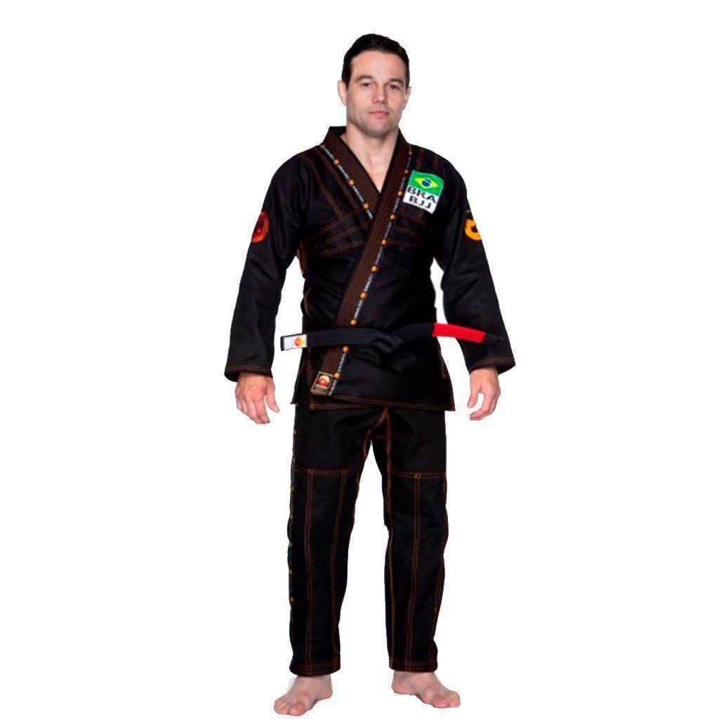 Kimono Jiu Jitsu Dragão Novo Combat Preto Adulto Unissex