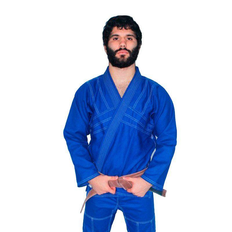Kimono Jiu Jitsu Dragão Yuri Azul Adulto Unissex