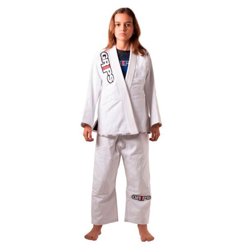 Kimono Jiu Jitsu Grips Lil Secret Branco Infantil
