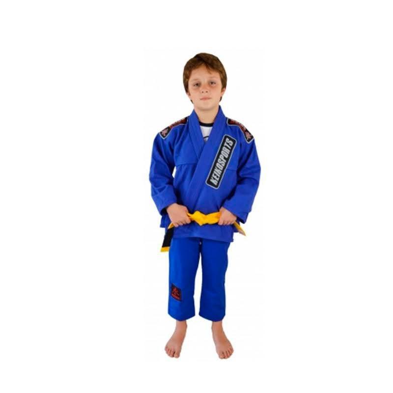 Kimono Jiu Jitsu Keiko Juvenil Pro Azul Infantil