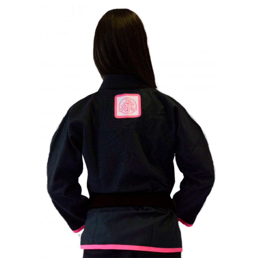 Kimono Jiu Jitsu Keiko Juvenil Pro Preto Feminino