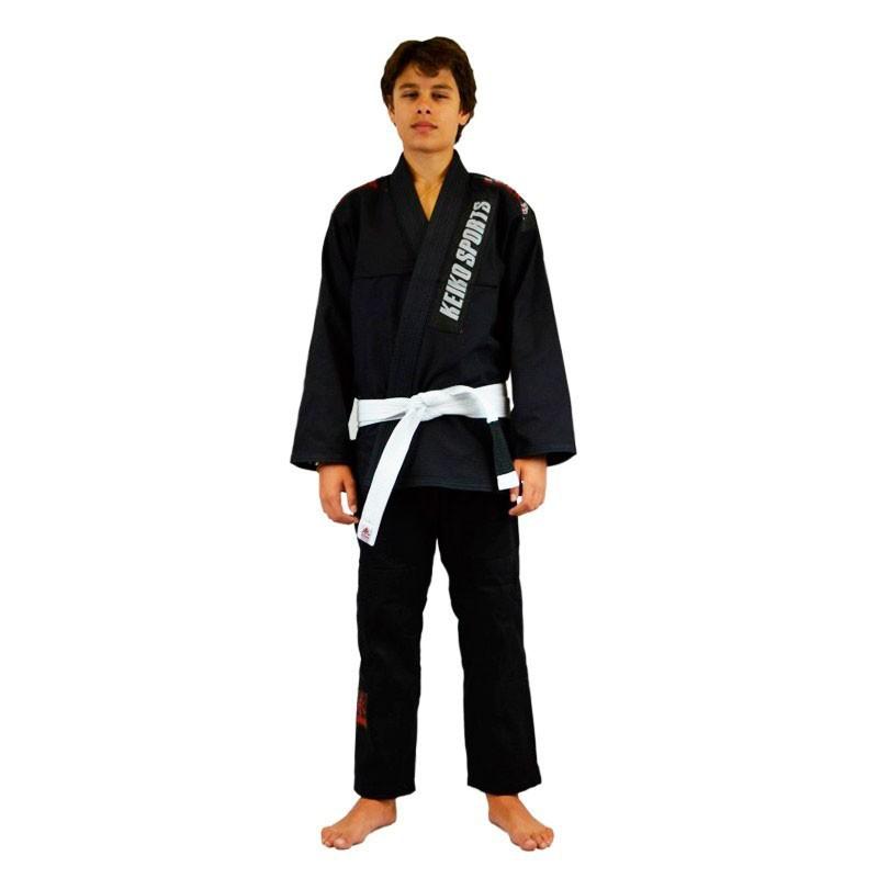 Kimono Jiu Jitsu Keiko Juvenil Pro Preto Infantil
