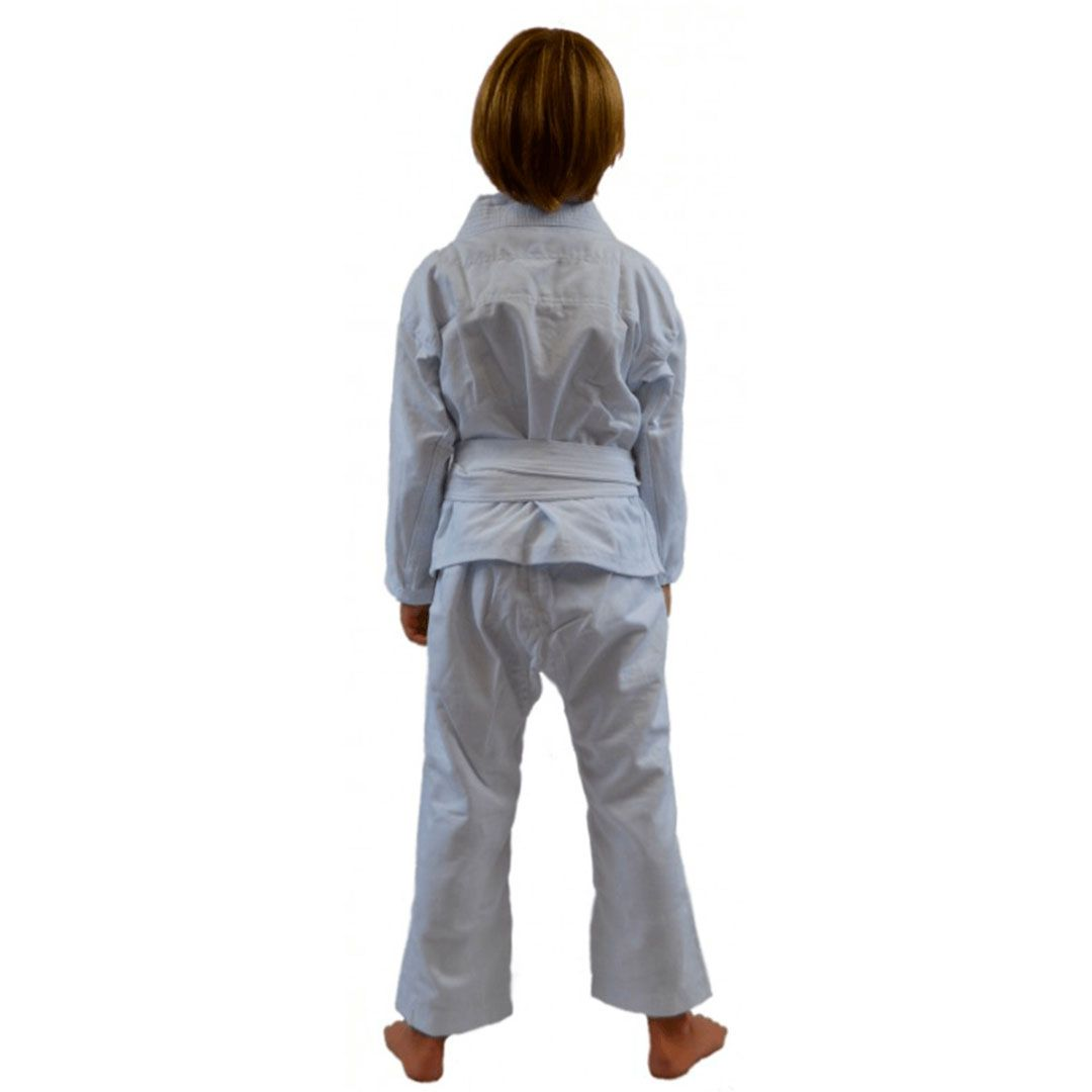 Kimono Jiu Jitsu Keiko Juvenil Reforçado Branco Infantil