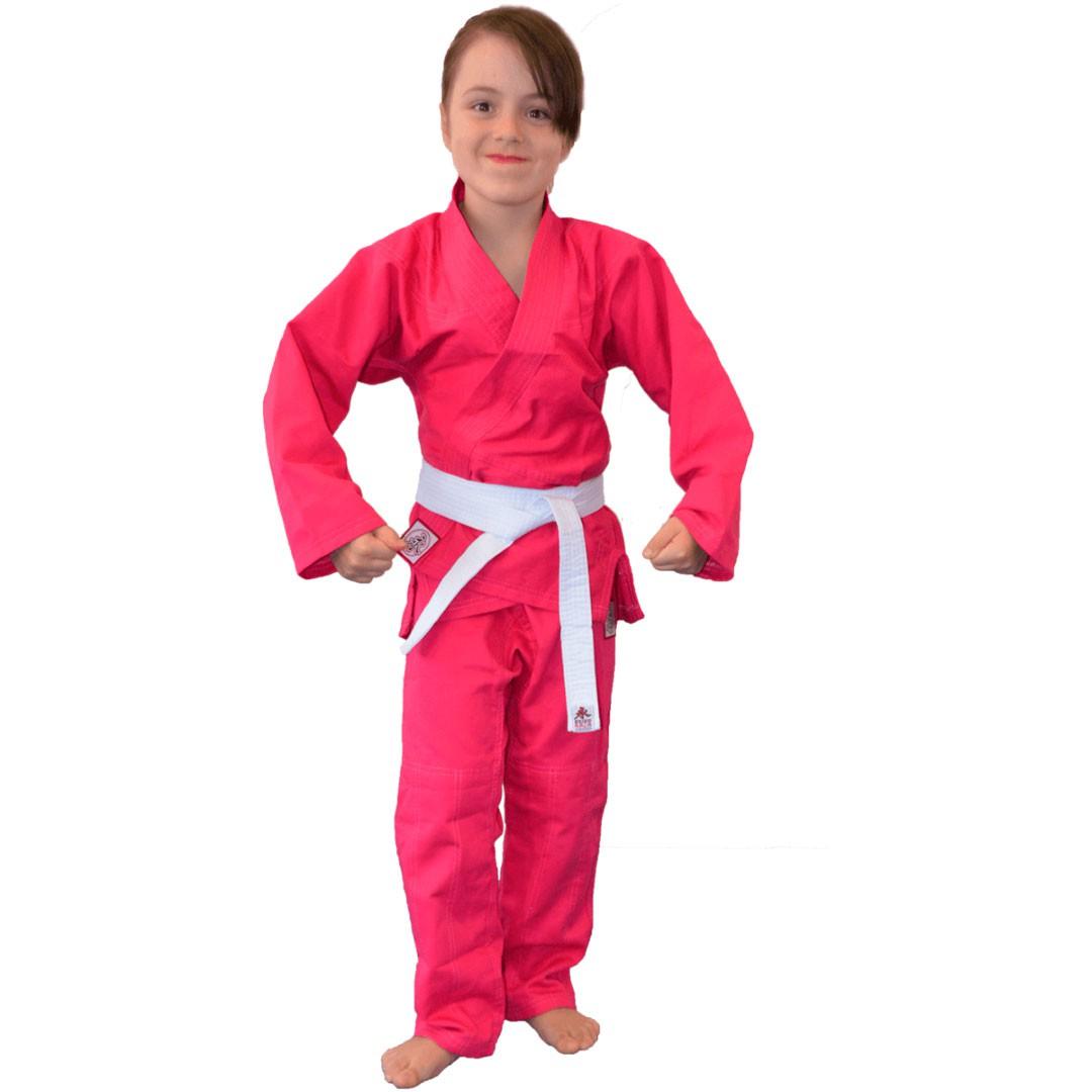 Kimono Jiu Jitsu Keiko Juvenil Reforçado Rosa Infantil