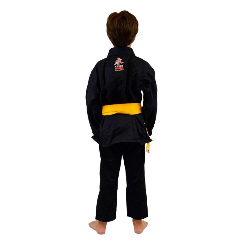 Kimono Jiu Jitsu Keiko Juvenil Trançadinho Preto Infantil