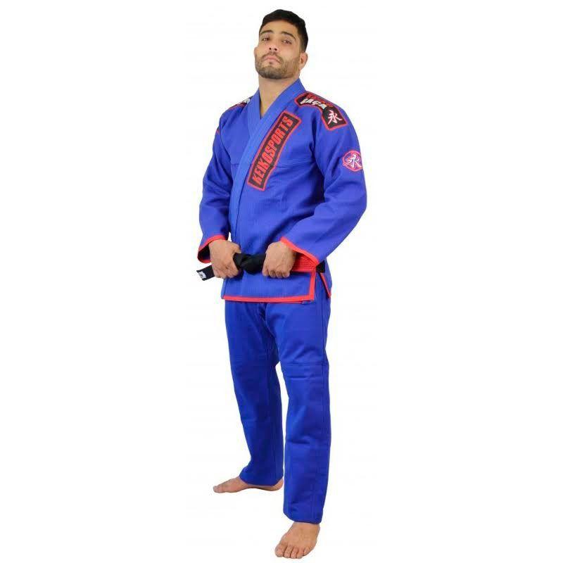 Kimono Jiu Jitsu Keiko Ouro Azul Adulto Unissex
