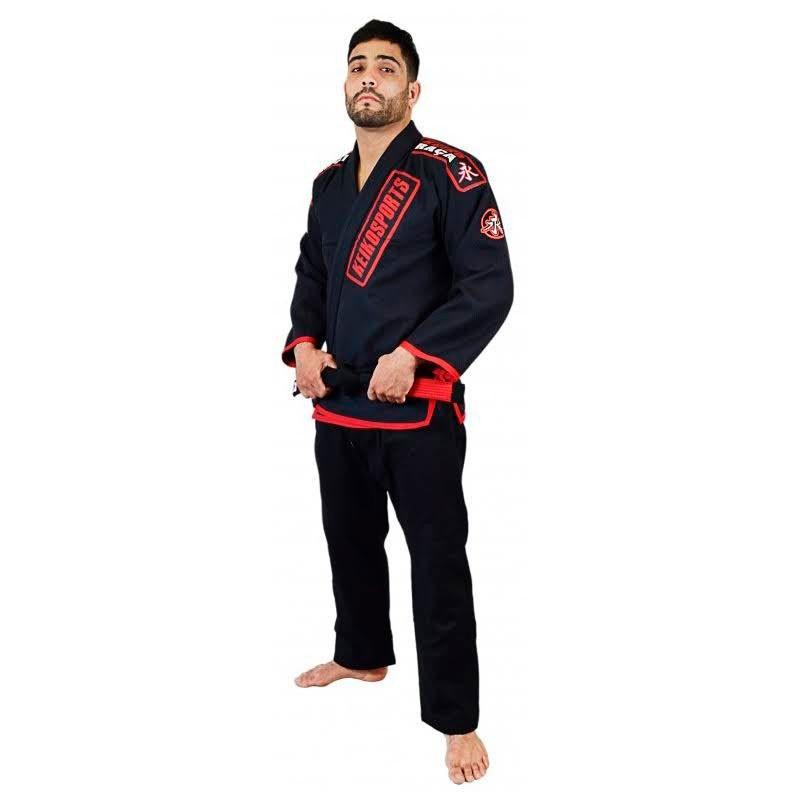 Kimono Jiu Jitsu Keiko Ouro Preto Adulto Unissex
