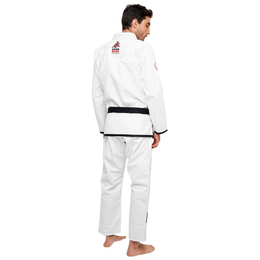 Kimono Jiu Jitsu Keiko Slim Fit Branco Adulto Unissex