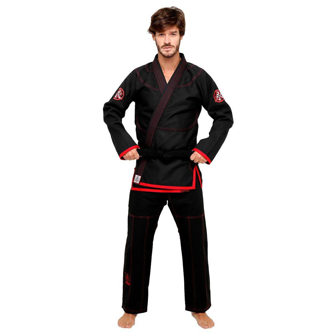 Kimono Jiu Jitsu Keiko Slim Fit Preto Adulto Unissex