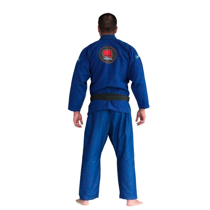 Kimono Jiu Jitsu Koral Classic Slim Fit Azul Royal Adulto Unissex