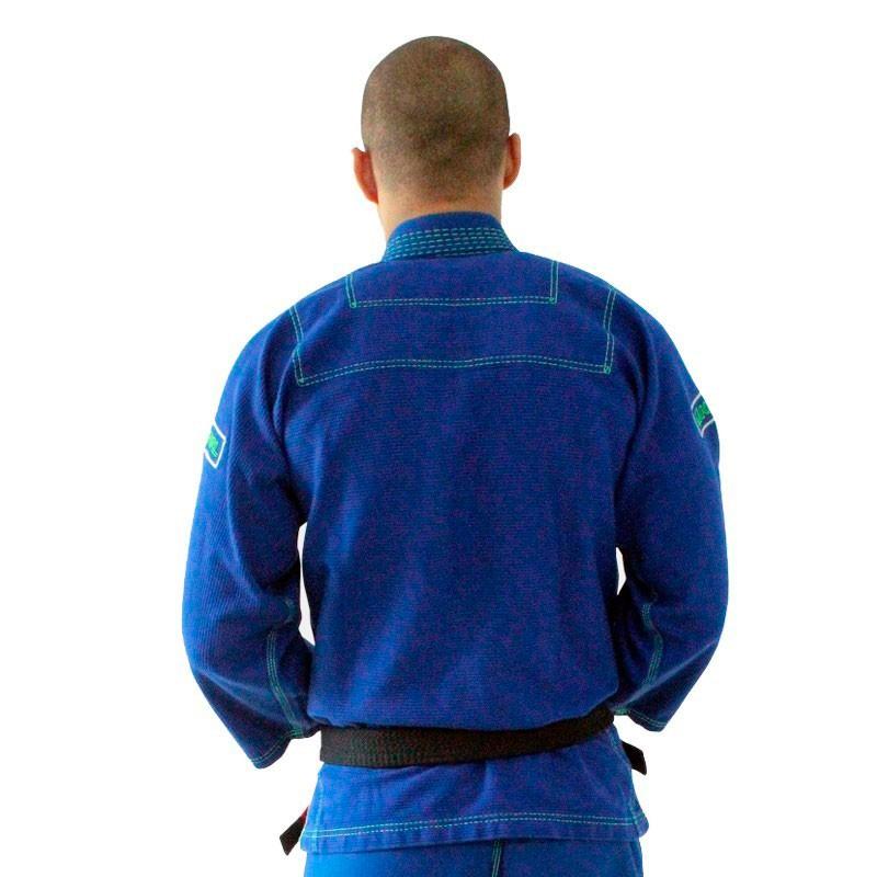 Kimono Jiu Jitsu Koral Clean Azul Adulto Unissex