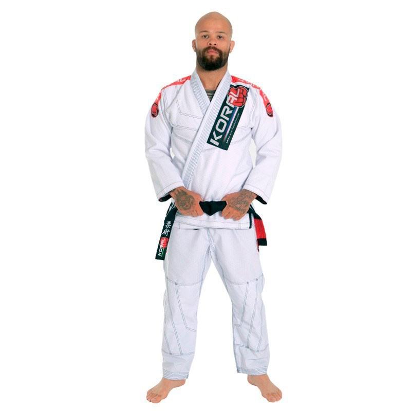 Kimono Jiu Jitsu Koral MKM Competition 18 Branco Adulto Unissex
